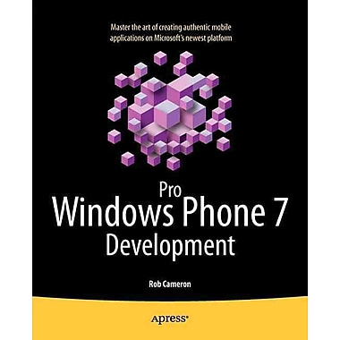 Pro Windows Phone 7 Development Rob Cameron Paperback