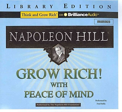 Grow Rich! With Peace Of Mind Audiobook CD Napoleon Hill