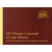 101 Things I Learned in Law School Vibeke Norgaard Martin Hardcover