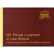 101 Things I Learned in Law School Vibeke Norgaard Martin Hardcover