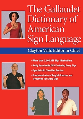 The Gallaudet Dictionary of American Sign Language Clayton Valli Hardcover