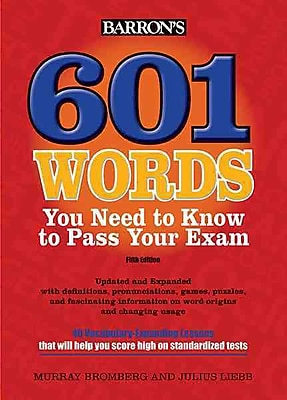 601 Words You Need to Know to Pass Your Exam Murray Bromberg , Julius Liebb Paperback