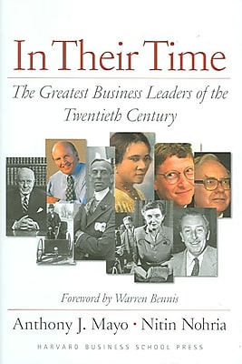 In Their Time Anthony J. Mayo , Nitin Nohria Hardcover