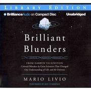 Brilliant Blunders: From Darwin to Einstein Audiobook CD Mario Livio