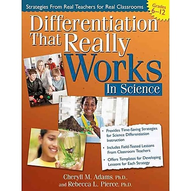 Differentiation That Really Works Science Cheryll Adams, Rebecca Pierce Paperback