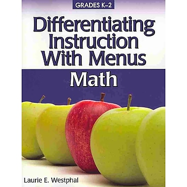 Differentiating Instruction With Menus: Math Laurie Westphal Paperback