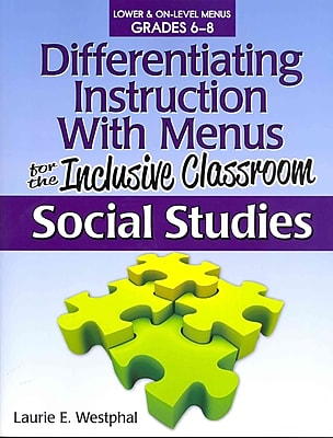 Differentiating Instruction with Menus for the Inclusive Classroom Paperback Social Studies
