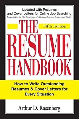 The Resume Handbook Arthur D. Rosenberg Paperback