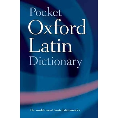 Pocket Oxford Latin Dictionary James Morwood Paperback