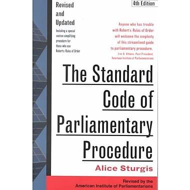 The Standard Code of Parliamentary Procedure Alice Sturgis Paperback