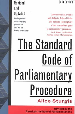 The Standard Code of Parliamentary Procedure Alice Sturgis Paperback