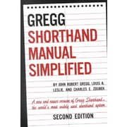 Gregg Shorthand Manual Simplified John Gregg, Louis Leslie, Charles Zoubek Hardcover