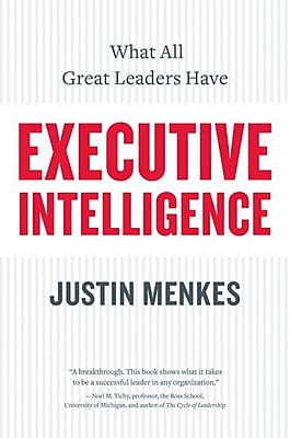 Executive Intelligence Justin Menkes Paperback