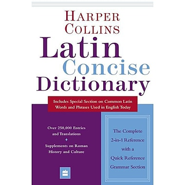 Collins Latin Concise Dictionary HarperCollins Publishers Paperback