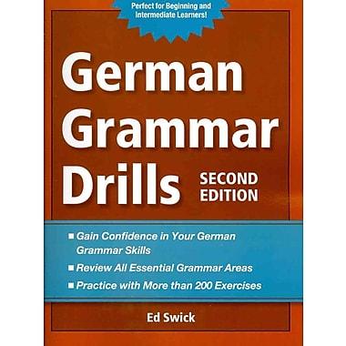 German Grammar Drills Ed Swick Paperback