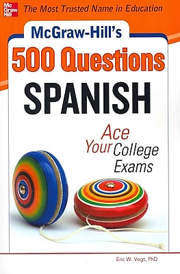McGraw-Hill's 500 Spanish Questions Eric Vogt Paperback