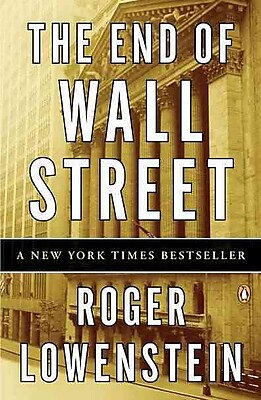 The End of Wall Street Roger Lowenstein Paperback