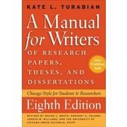 A Manual for Writers of Research Papers, Theses, and Dissertations, Eighth Edition Paperback