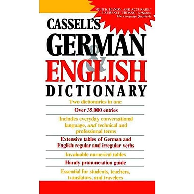 Cassell's German and English Dictionary H.-C. Sasse Paperback