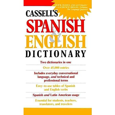 Cassell's Spanish & English Dictionary Cassell Staff Paperback