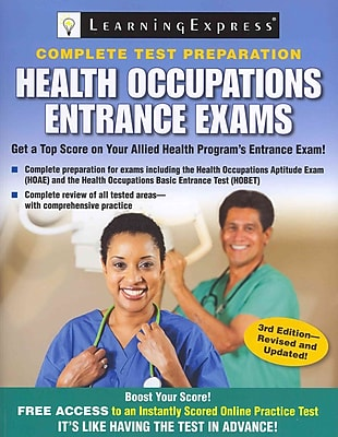 Health Occupations Entrance Exams LearningExpress LLC Paperback