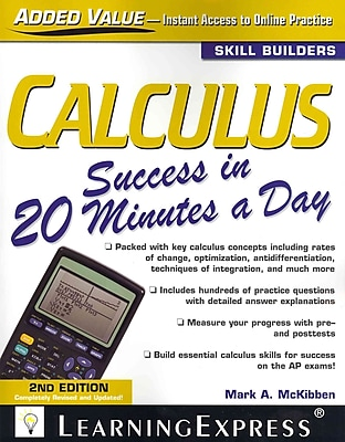 Calculus Success in 20 Minutes a Day Editors of LearningExpress LLC Paperback