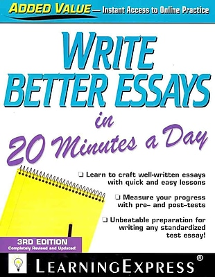 Write Better Essays in 20 Minutes a Day LearningExpress Editors LLC Paperback