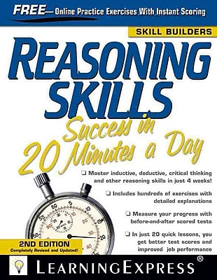 Reasoning Skills Success in 20 Minutes a Day LearningExpress Editors Paperback