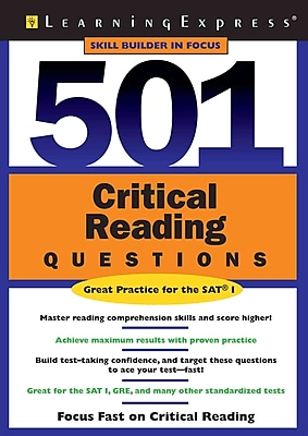 501 Critical Reading Questions LearningExpress Editors Paperback