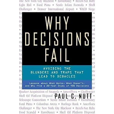 Why Decisions Fail Paul C Nutt Paperback