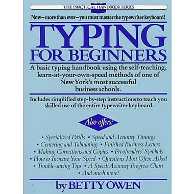 Typing for Beginners Betty Owen Paperback