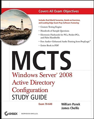 MCTS Windows Server 2008 Active Directory Configuration Study Guide: Exam 70-640 Paperback