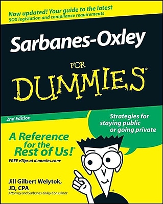 Sarbanes-Oxley For Dummies Jill Gilbert Welytok JD CPA Paperback