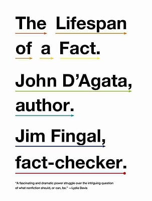 The Lifespan of a Fact John D'Agata, Jim Fingal Paperback
