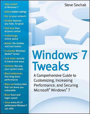 Windows 7 Tweaks Steve Sinchak Paperback