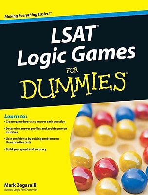 LSAT Logic Games for Dummies Mark Zegarelli Paperback