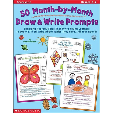 50 Month-by-Month Draw & Write Prompts Danielle Blood, Danielle Flynn Paperback