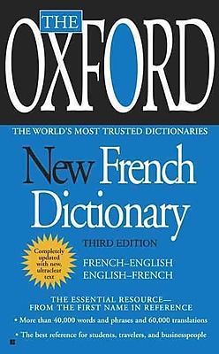 The Oxford New French Dictionary: Third Edition Oxford University Press Paperback