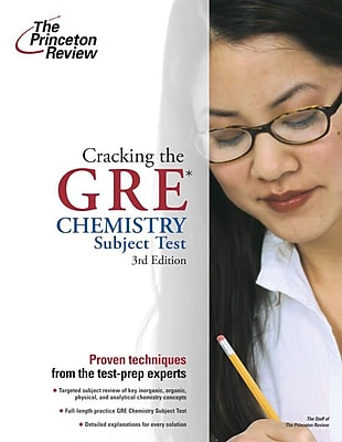 Cracking the GRE Chemistry Test, 3rd Edition Princeton Review Paperback