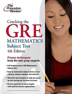 Cracking the GRE Mathematics Subject Test Princeton Review Paperback