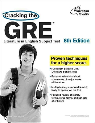 Cracking the GRE Literature in English Subject Test Princeton Review Paperback