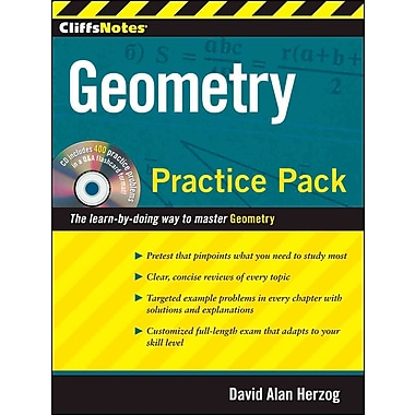CliffsNotes Geometry Practice Pack David A.Herzog Paperback