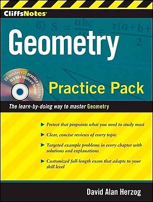 CliffsNotes Geometry Practice Pack David A.Herzog Paperback