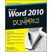 Word 2010 For Dummies Dan Gookin Paperback