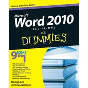 Word 2010 All-in-One For Dummies Doug Lowe Paperback