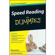 Speed Reading For Dummies Richard Sutz Paperback