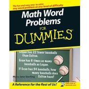 Math Word Problems for Dummies Mary Jane Sterling Paperback