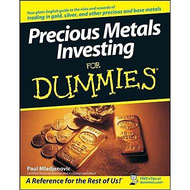 Precious Metals Investing For Dummies Paul Mladjenovic Paperback