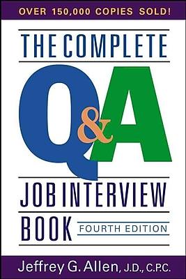 The Complete Q&A Job Interview Book Jeffrey G. Allen Paperback