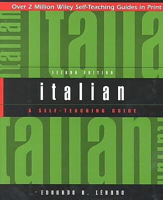 Italian: A Self-Teaching Guide, 2nd Edition Edoardo A. Lebano Paperback